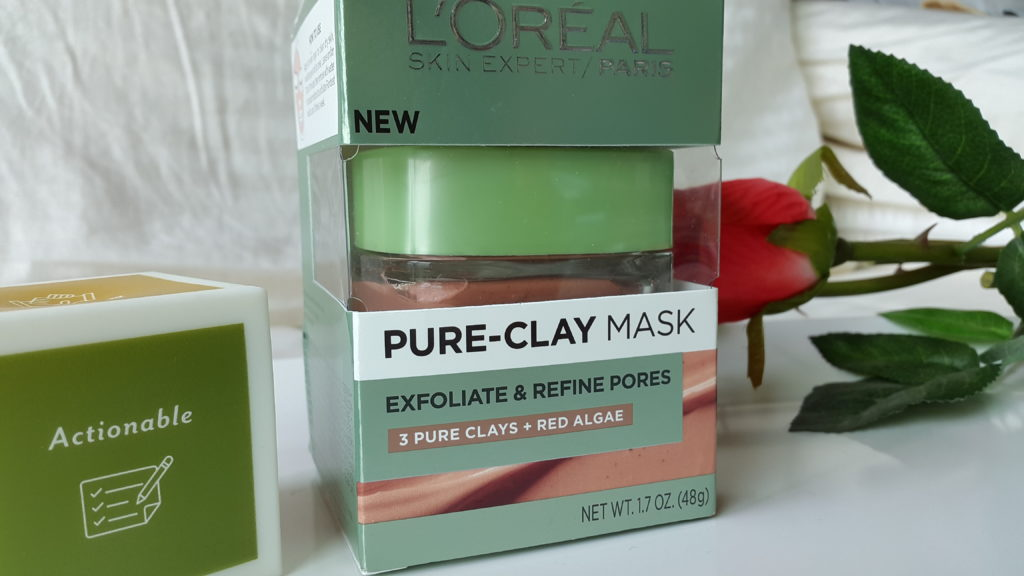 L'Oreal Pure Clay Mask - Exfoliate and Refining Mask