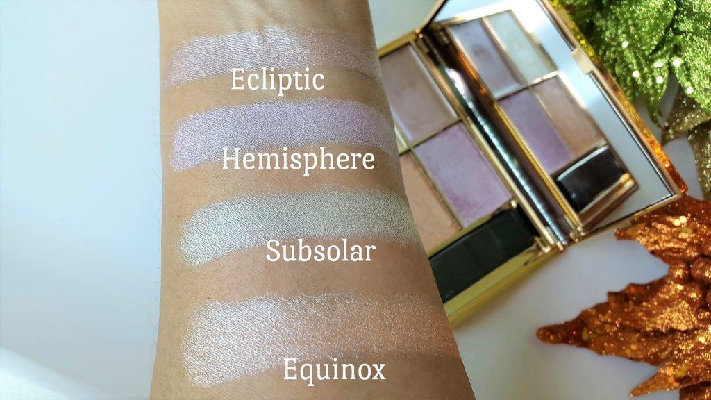 Sleek Makeup - Solstice Highlighting Palette Swatches Indoors