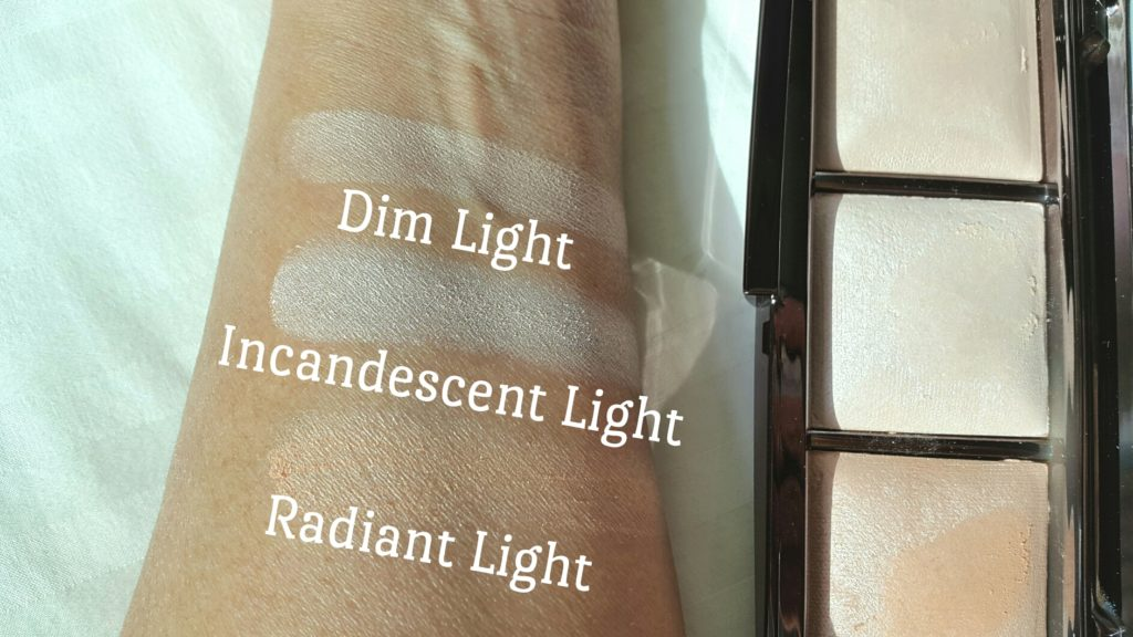 Hourglass Ambient Lighting Palette Swatches on medium skin