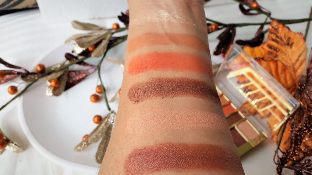 Milani Everyday Eyes Eyeshadow  Collection Palette - 05 Earthy Elements Swatches