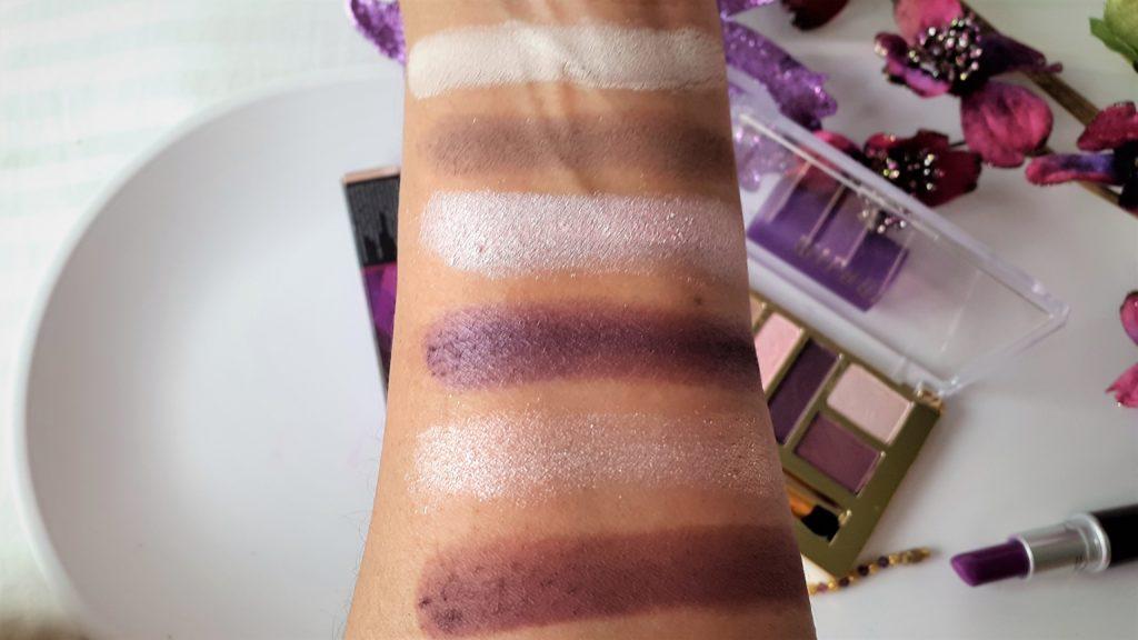 Milani Everyday Eyes Powder Eyeshadow Palette - 04 plum Basics - Swatches