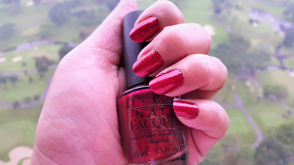Winter 2017 Favorite Nail Polish OPI Red Fingers & Mistletoes