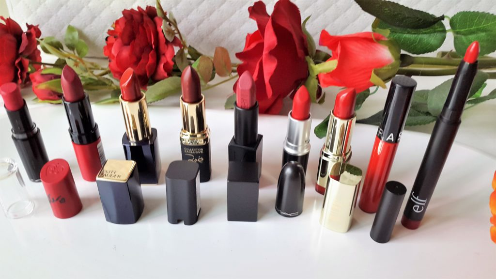 Favorite Red Lipsticks for Christmas and parties.