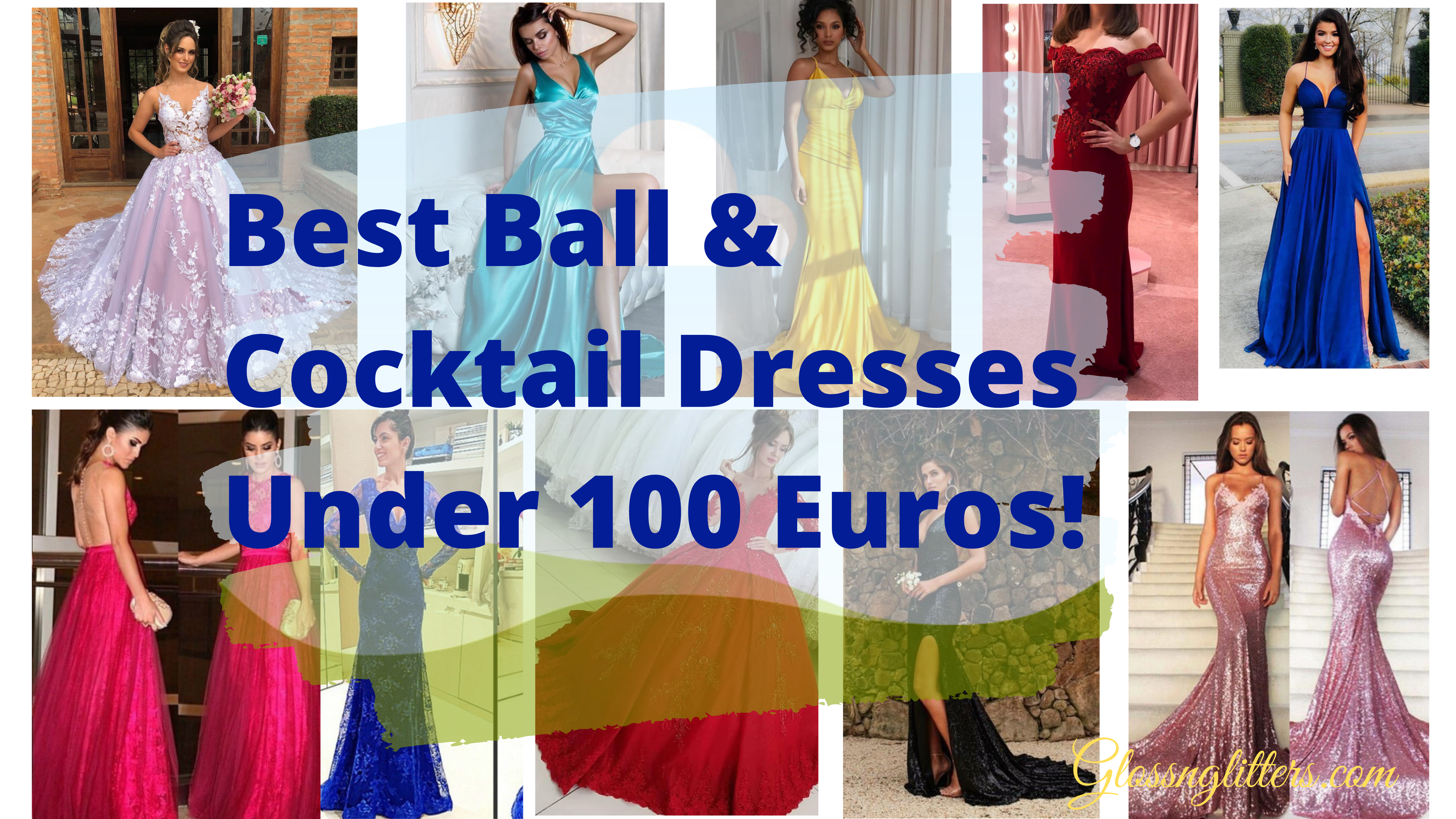 best ball & cocktail dresses under 100 euros! | glossnglitters
