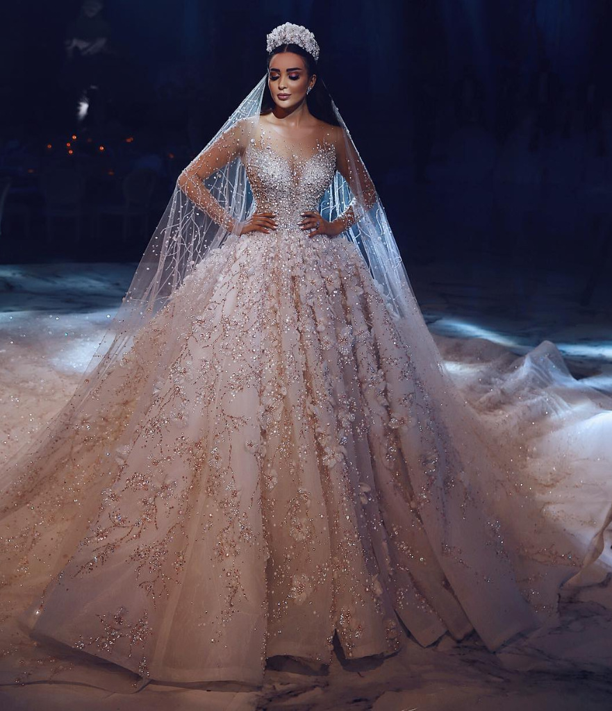 Affordable Wedding Gowns In Manila: Luxury Wedding With Sleeve A-line Dress